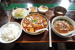 <麻婆豆腐ランチで元気が出た>