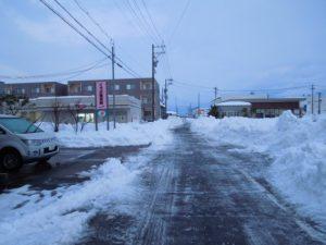 <道路が除雪されました>